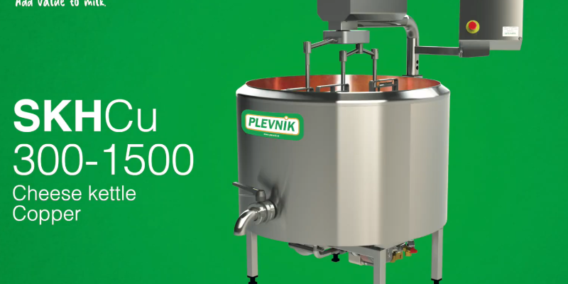 Plevnik SKH-Cu: Cheese kettle with copper inside - Cheesemaking 1000 l